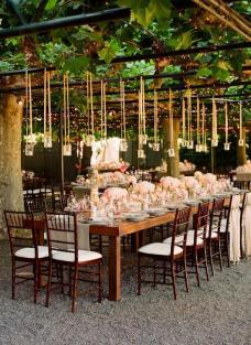 Decoración velas para boda