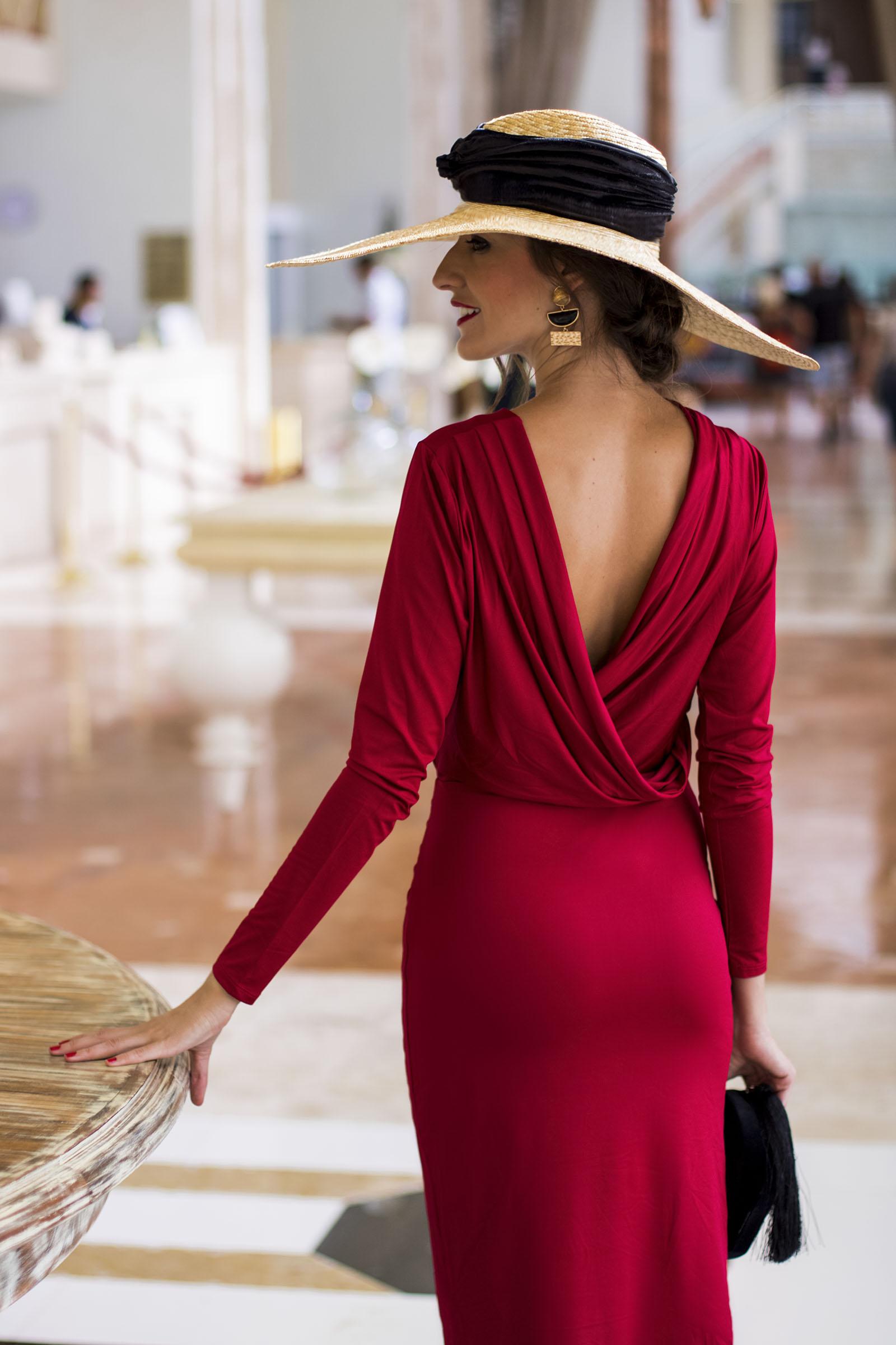 Vestido rojo para boda invierno