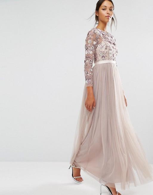 Vestido de invitada de boda de noche