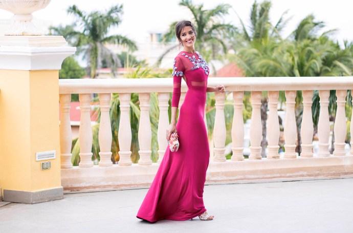 invitada boda fernando claro costura vestido noche
