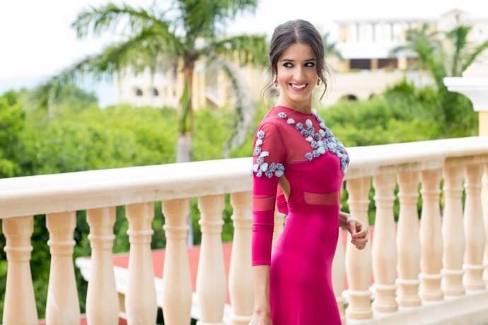 invitada boda fernando claro costura vestido noche ed225dffe434