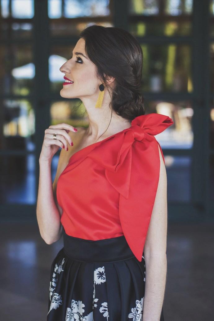 Vestido largo para invitada de Fátima Ángulo