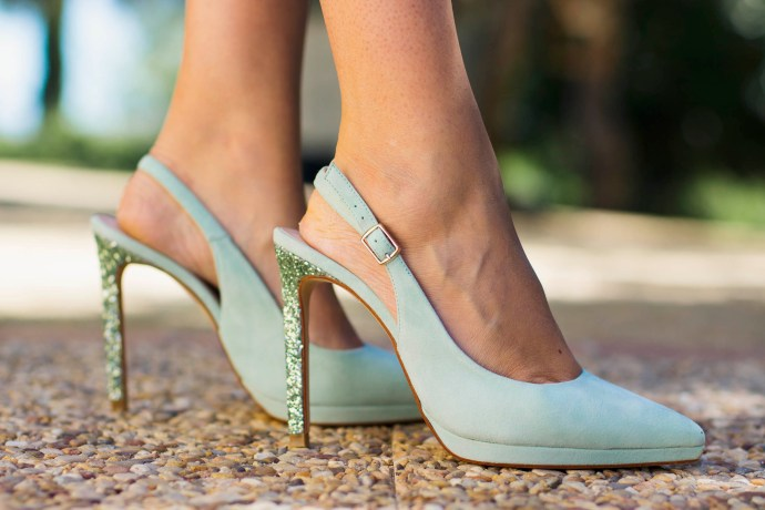 Zapatos personalizados verde agua mint