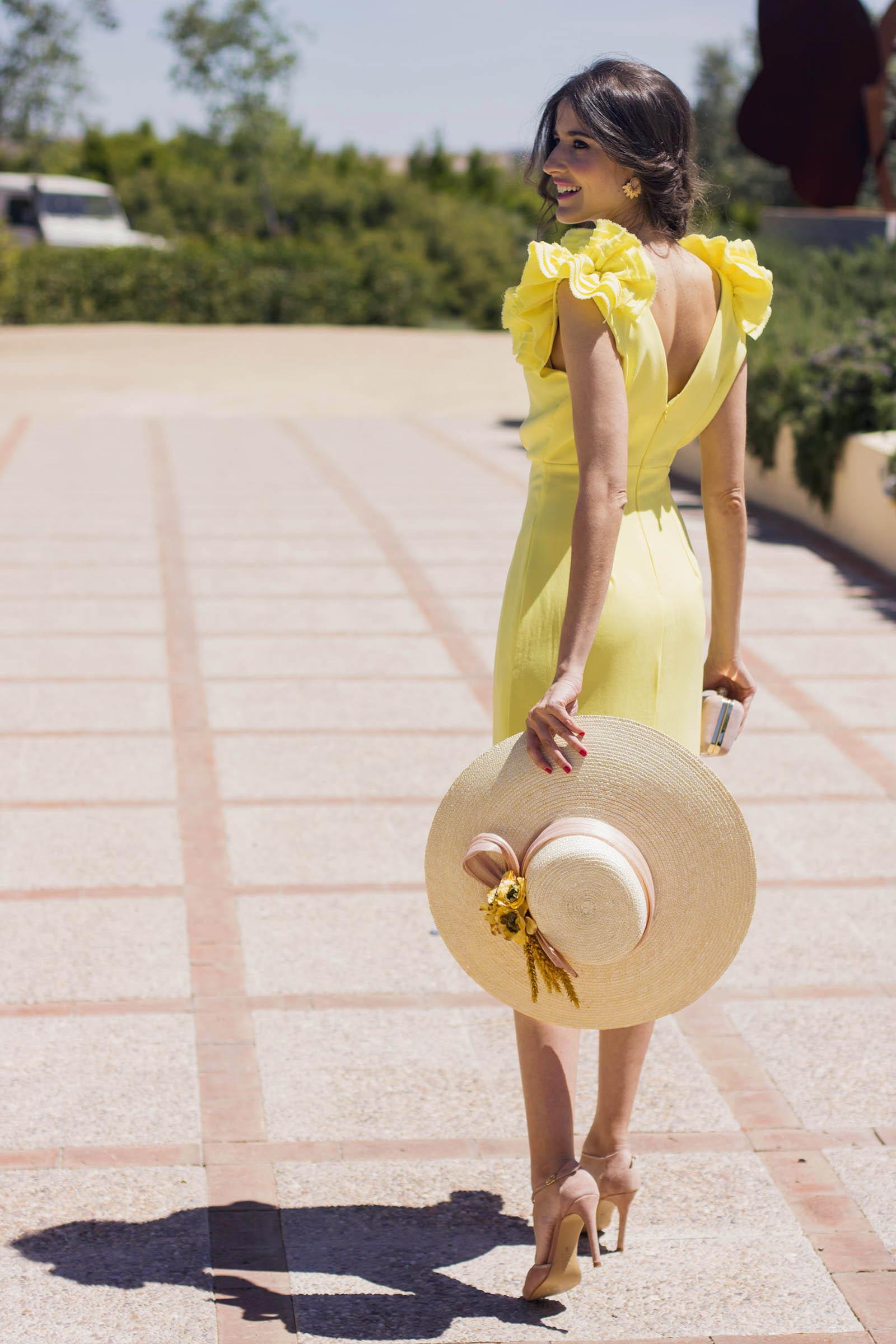Pamela Vestido Boda De Amarillo Con 39 Blancaspina IWH9E2D