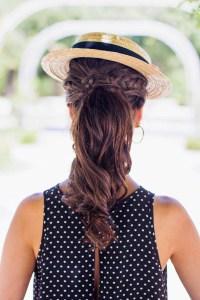 Peinado coleta trenza canotier novia invitada perfecta