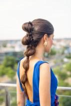 Peinado coleta burbujas invitada boda