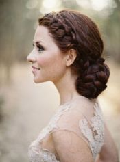 Peinados invitada novia trenza recogido trenzas coleta coletas