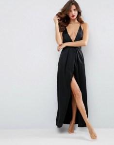 combinacion vestido largo saten