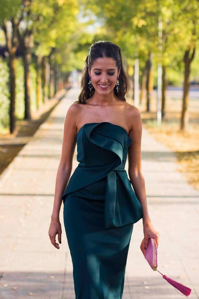 invitada perfecta boda vestido ajustado palabra honor barato