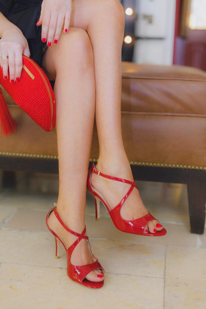 Sandalias fiesta roja ana plo shoes