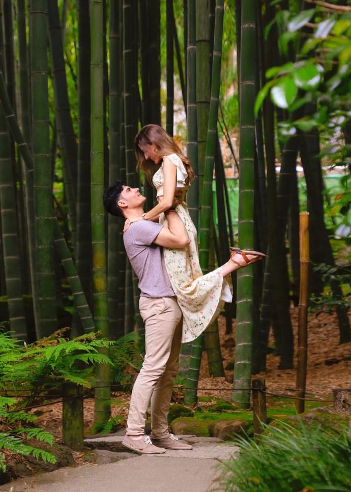 viaje japon jardin bambu