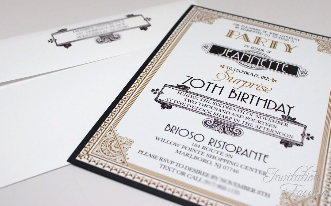 Find 70th birthday invitations that are are just as cute, fun, and classy as your loved one. Surprise 70th Birthday Invitation Invitation Fascination