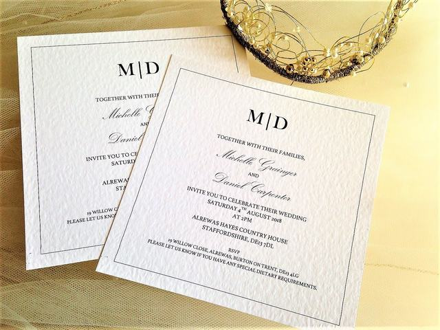 Match wedding stationery available!