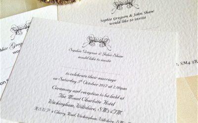 Art Deco Postcard Wedding Invites