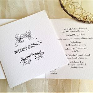 Art Deco Square Wedding Invites
