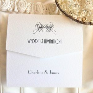 Art Deco Tri Fold Wedding Invites