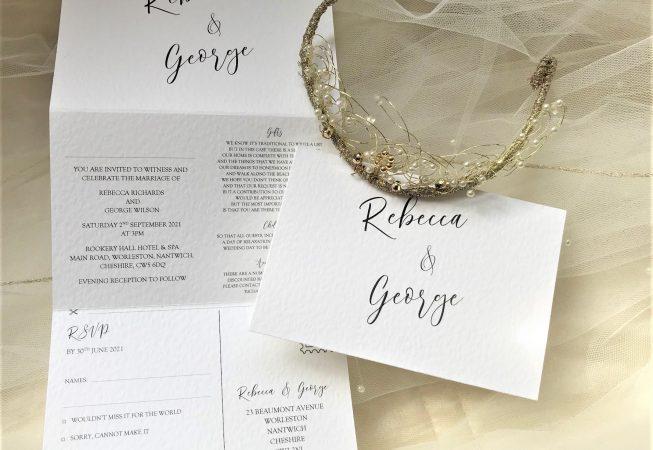 Burleigh Concertina Wedding Invites