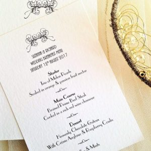Art Deco Personalised Menu Card