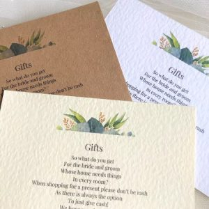 Autumn Leaf Guest Information Cards