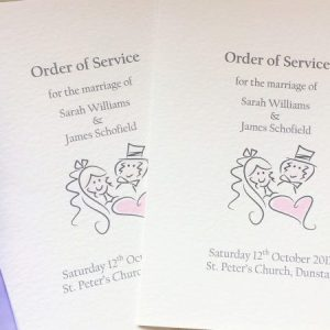 Small Bride & Groom Order of Service Books
