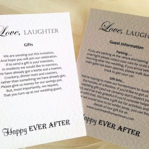 Love Laughter Information Cards