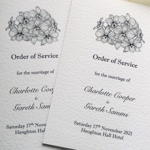 Lily Order of Service Books