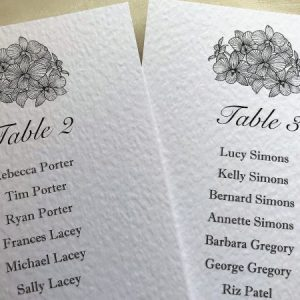 Lily Table Plan Cards