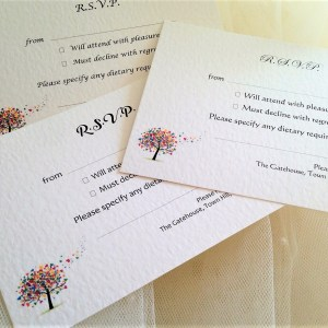 Love Tree RSVP Cards and Envelopes