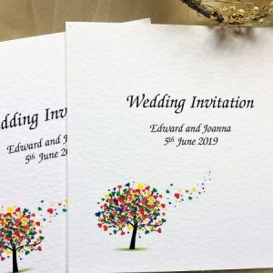 Love Tree Centre Fold Invitations