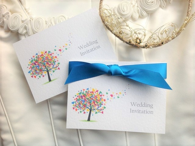Love Tree Top Fold Invitations