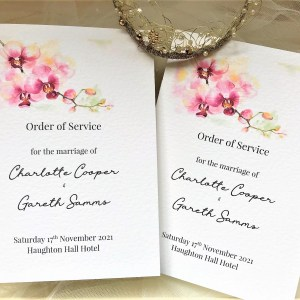 Oriental Orchid Wedding Order of Service Books