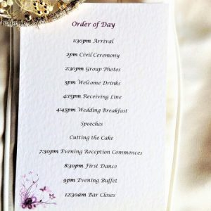Purple & Lilac Butterfly Order of Day Cards