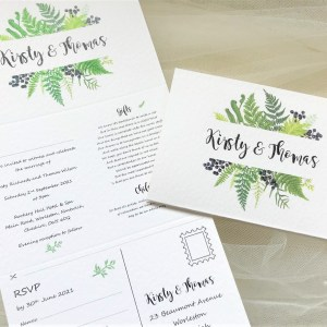 Woodland Fern Concertina Invites