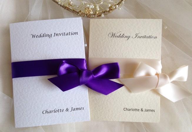 Wrap Ribbon Wedding Invitations
