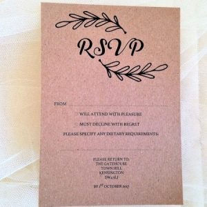 Wreath RSVP postcards