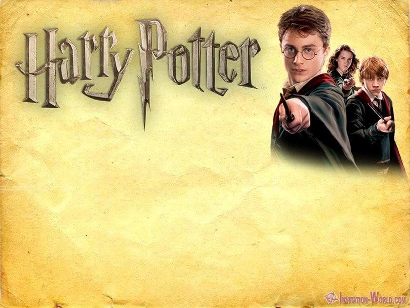 9 free harry potter diy invitations