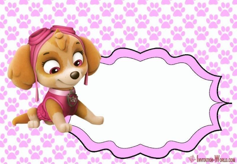 5 unique paw patrol templates for girls