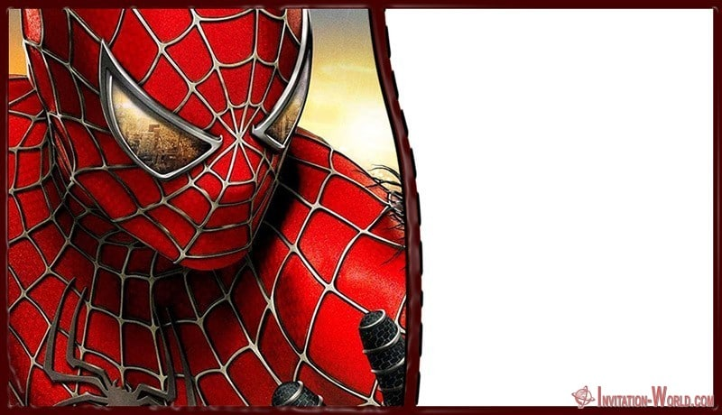 spiderman invitation card free online