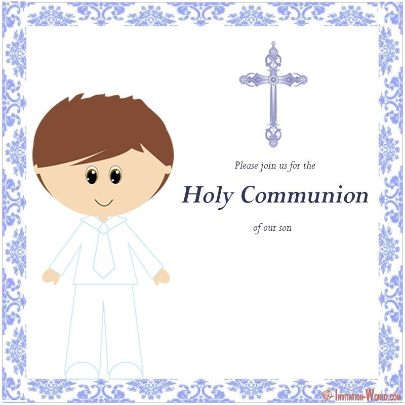 first communion invitation cards