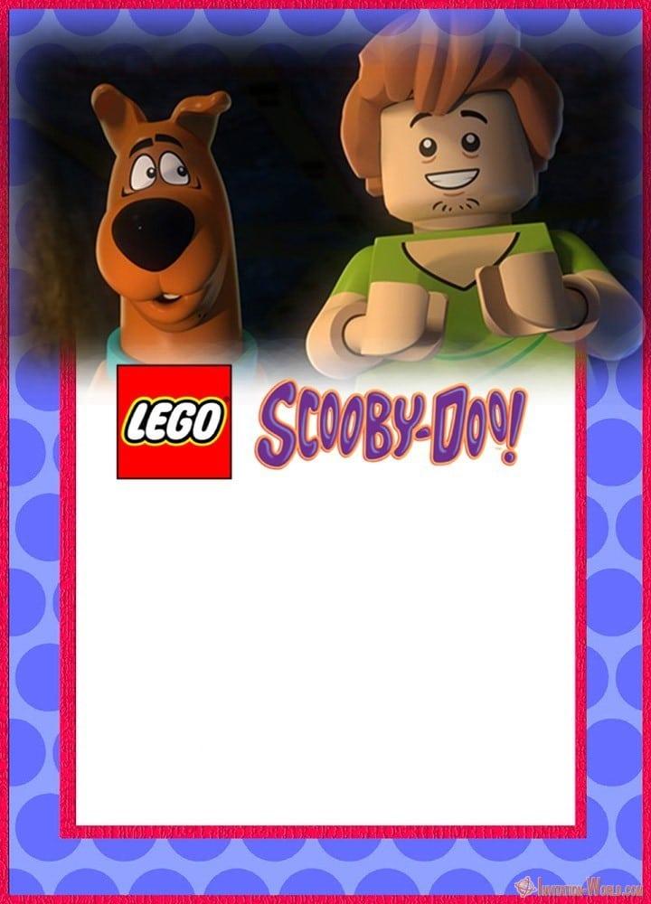 lego scooby doo party invitation