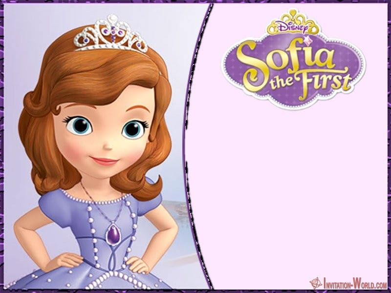 blank sofia the first party invitation