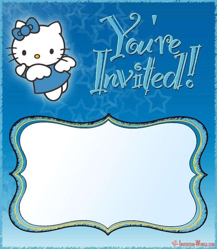 free hello kitty boys invitation