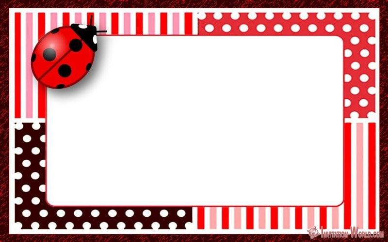 ladybug invitation templates free