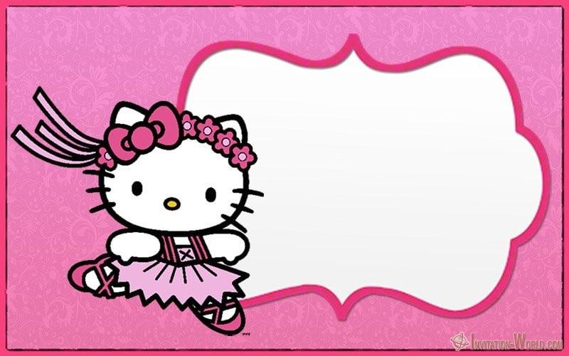 hello kitty invitation card