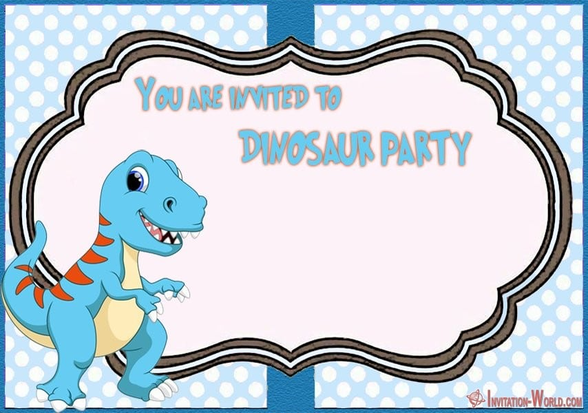 7 cute dinosaur birthday invitation