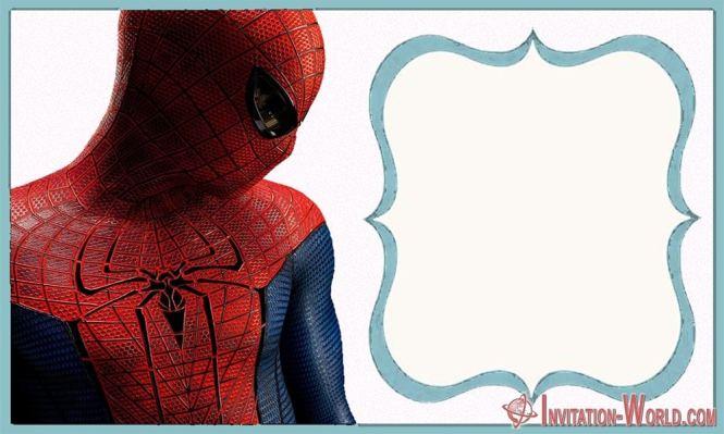 Spider Man Birthday Party Invitation