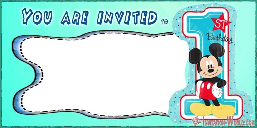 first birthday invitation template