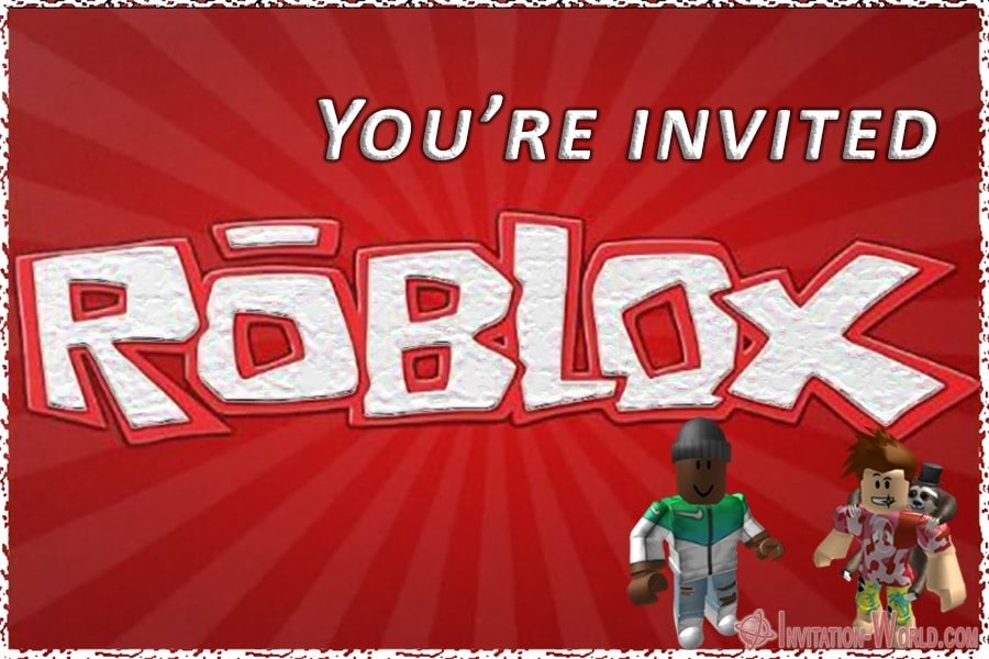 roblox birthday party invitations