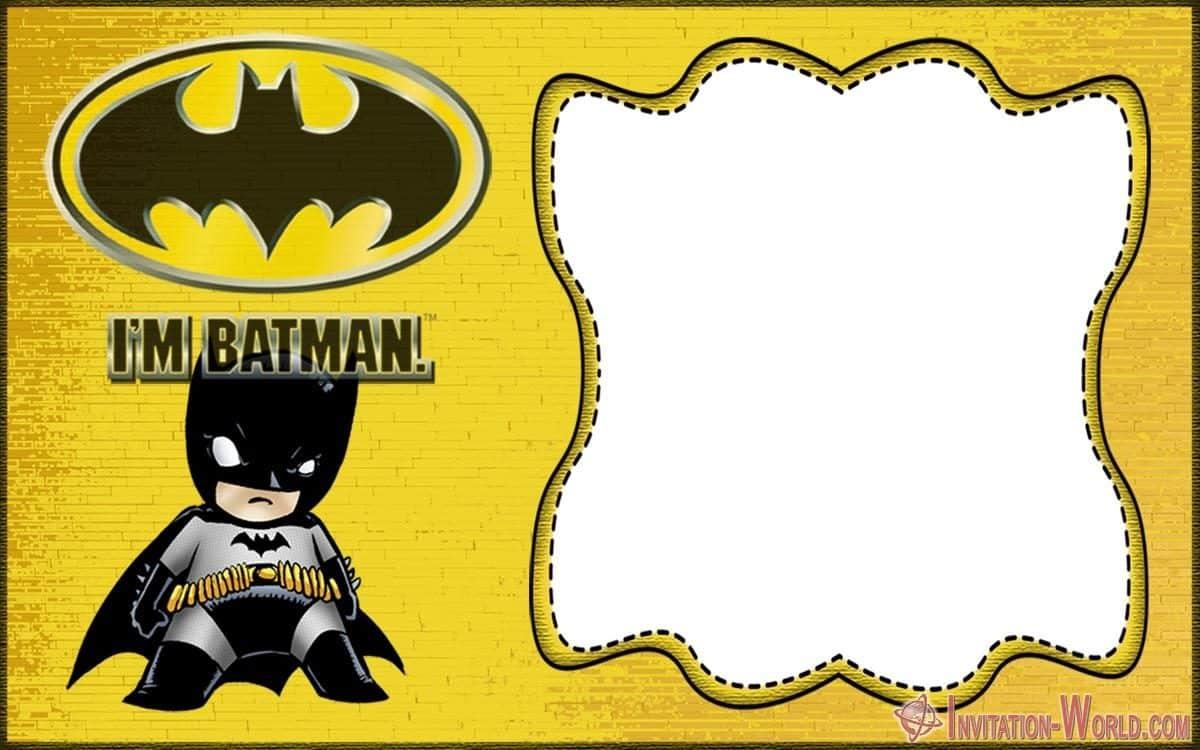 free printable batman invitation