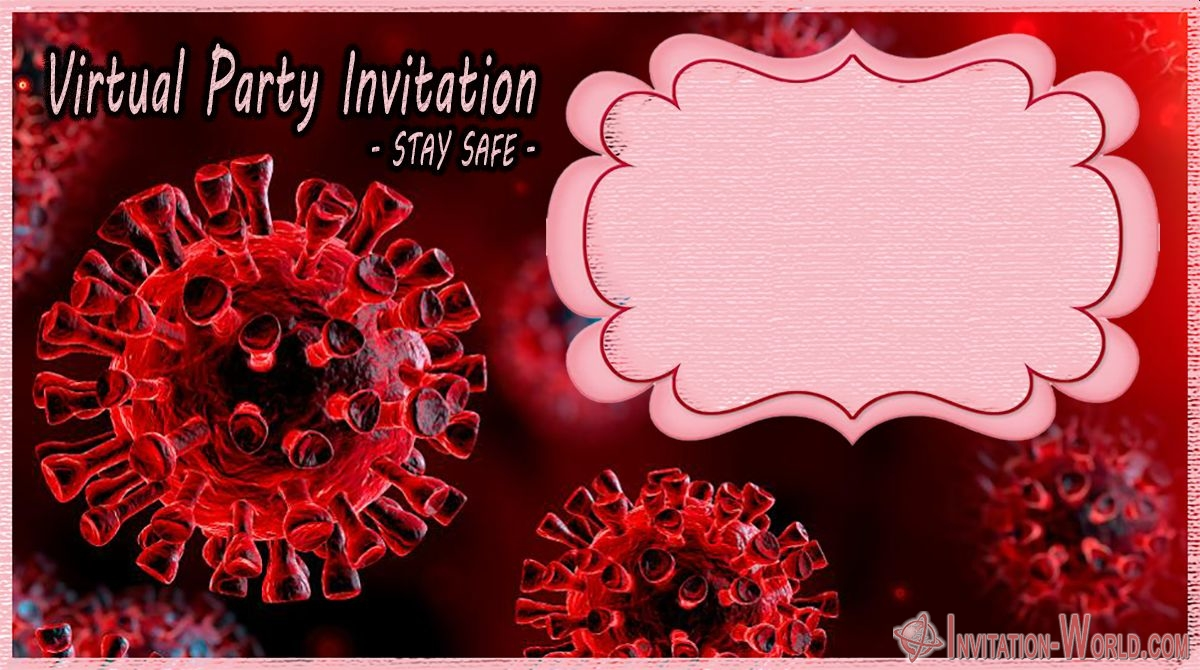 coronavirus digital invitation